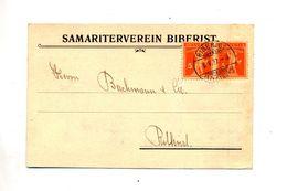 Carte Cachet Biberist Sur Tell Entete Samaritain - Marcophilie