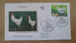 FDC - N°3663 - Les Animaux De La Ferme La Poule - FDC