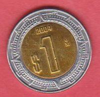 2004 Messico - 1 Peso Circolato (fronte E Retro) - Messico