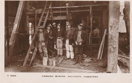 Cornwall  Tin Mining Dolceath  Miners At Pit Head  RP  Cw157 - Engeland