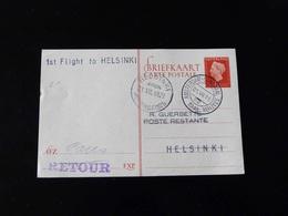 ENTIER POSTAL   1 ST FLIGHT  POUR  HELSINKI - Airmail