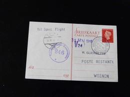 ENTIER POSTAL   1 ST FLIGHT  POUR  WEENEN - Airmail