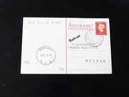 ENTIER POSTAL   2 ND SPECIAL FLIGHT  POUR  POZNAN - Airmail