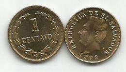 El Salvador 1 Centavo 1992. UNC KM#135.1a - Salvador
