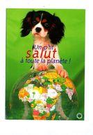 Carte Salut à La Planete Chien  Flamme Muette Strasbourg - Hunde