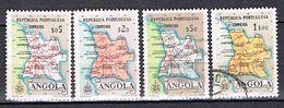 Carte De La Province D'Angola N°381 à 384 - Angola