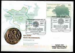 """Germany 2007 Plusbrief Mi.Nr.USo135 Als Heimatbeleg 14770 Brandenburg Mit SST""""Brandenburg-850 Jahre Mark Brand..""""1 Beleg - BRD"""