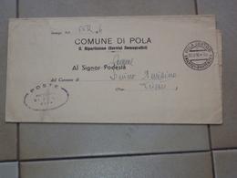 CROAZIA AMG VG OCCUPAZIONE ANGLO AMERICANA MODULO ANAGRAFICO IMMIGRAZIONE DA POLA 1946 - Ohne Zuordnung