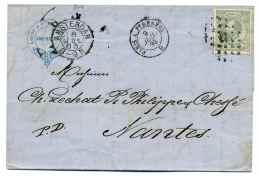 Lettre D'AMSTERDAM Avec Ambulant PARIS A PYRENNEES /  Hollande / 1883 - Postmark Collection (Covers)