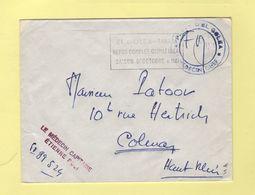 El Golea Oasis -Place D El Golea - Le Medecin Capitaine - 1962 - Marcophilie (Lettres)