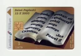 LATVIA Lattelekom Pope Johannes Paulus II Issued 100 Pcs. Used - Lettland