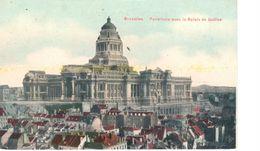 Bruxelles - CPA - Brussel - Panorama Avec Le Palais De Justice - Panoramische Zichten, Meerdere Zichten