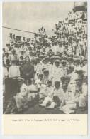GIUGNO  1923  IL DUCE  FRA L'EQUIPAGGIO  DELLA R.N. DUILIO IN VIAGGIO  VERSO  LA SARDEGNA        2  SCAN  (NUOVA ) - Eventi