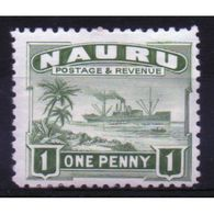 Nauru  1d Definitive Stamp From 1924.  This Stamp Is Catalogue Number 27a And Is In Mounted Mint Condition. - Nauru