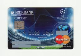 Sberbank RUSSIA UEFA Champions League MASTERCARD EXPIRED 2001 - Geldkarten (Ablauf Min. 10 Jahre)