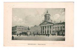 Belgique Bruxelles Place Royale Cpa Animée Tram Tramway - Piazze