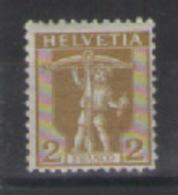 SVIZZERA -1907 WALTER TELL UNIF. 113 MLH VF - Svizzera