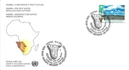 1er Jour FDC Nations Unies - Vienne N°122 Namibie: Naissance D'une Nation - FDC
