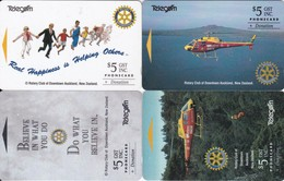 New Zealand, NZ-F-001-004, Set Of 4, Rotary Charity Series, Helicopters, 2 Scans.. - New Zealand