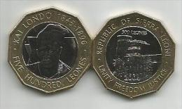 Sierra Leone 500 Leones 2004. High Grade - Sierra Leone