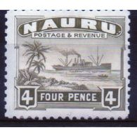 Nauru 4d Definitive Stamp From 1924.  This Stamp Is Catalogue Number 32b And Is In Mounted Mint Condition. - Nauru