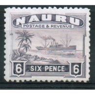 Nauru 6d Definitive Stamp From 1924.  This Stamp Is Catalogue Number 34b And Is In Mounted Mint Condition. - Nauru