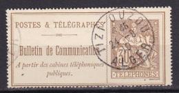 Timbre Telephone  N°25 (30c.)  Obl. Algerie  TIZI OUZOU - Télégraphes Et Téléphones