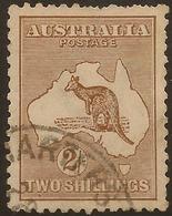 AUSTRALIA 1915 2/- Die II Roo SG 41 U #AIO353 - 1913-48 Kangaroos