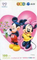 Mobilecard Thailand - 12Call/AIS  - Disney - Mickey & Minnie (2) - Thaïlande