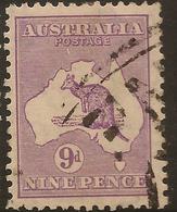 AUSTRALIA 1929 9d Die IIB Roo SG 108 U #AIO358 - 1913-48 Kangaroos