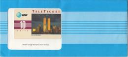 USA - New York Skyline(EN), AT&T TeleTicket 10 Units, Tirage 1000, 09/92, Mint - United States