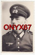Carte Postale Photo Militaire Allemand Uniforme-Insigne Régiment 2 ème Guerre 39/45 Casquette - Guerre 1939-45