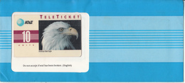 USA - American Bald Eagle(EN), AT&T TeleTicket 10 Units, Tirage 1000, 05/92, Mint - United States