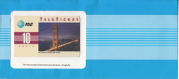 "USA - San Francisco""s Golden Gate Bridge(EN), AT&T TeleTicket 10 Units, Tirage 1000, 05/92, Mint - United States"