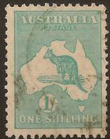 AUSTRALIA 1929 1/- Die IIB Roo SG 109 U #AIO357 - 1913-48 Kangaroos