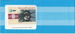 USA - Statue Of Liberty?New York(EN), AT&T TeleTicket 10 Units, Tirage 1000, 07/92, Mint - United States
