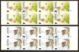 Alderney Aurigny 1997 Yvertnr. Carnet C75a-C77a (o) Oblitéré Used Cote 12,50 Euro Faune Oiseaux Vogels Birds - Alderney
