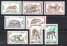 Congo-Brazzaville 1972 Mi.nr: 341-348 Wildtiere  Neuf Sans Charniere / MNH / Postfris - Congo - Brazzaville