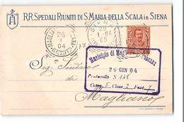 16331 RR SPEDALI RIUNITI DI S. MARIA DELLA SCALA IN SIENA X MAGLIANO - 1900-44 Vittorio Emanuele III