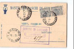 16332 MONTE DEI PASCHI DI SIENA X LARCIANO - 1900-44 Vittorio Emanuele III