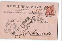 16334 OSPEDALE DEGLI INFERMI FAENZA X MARRADI - 1900-44 Vittorio Emanuele III
