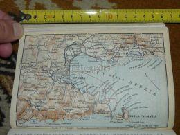 Spezia Golfo Isola Palmaria Lerici Italy Map Karte Mappa 1930 - Carte Geographique