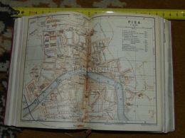 Pisa Italy Map Karte Mappa 1930 - Carte Geographique