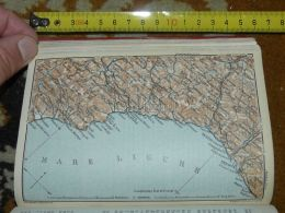 Mare  Ligure Loano Savona Genova Nervi Sestri Varazze Italy Map Karte Mappa 1930 - Carte Geographique