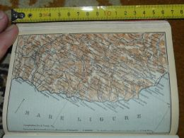 Mare  Ligure Menton Sanremo Imperia Alassio Cervo Italy Map Karte Mappa 1930 - Carte Geographique