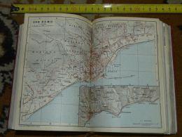 Mare Ligure Sanremo Bussana S. Stefano Italy Map Karte Mappa 1930 - Carte Geographique
