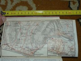 Bordighera Sasso Borghetto Vallecrosia Ospedaletti Coldirodi Italy Map Karte Mappa 1930 - Carte Geographique