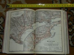 Menton  Mortola Grimaldi Castellar Italy Map Karte Mappa 1930 - Carte Geographique