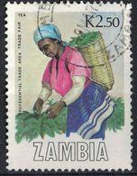 Zambie 1988 Oblitéré Used Cueillette Du Thé Récolte Tea Harvest - Zambia (1965-...)