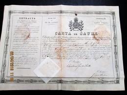 BRAZIL - BRASIL 1837 CARTA DE SAUDE - BILL OF HEALTH  Do Porto Do RIO DE JANEIRO - Italian Ship Em Viagem A  MONTEVIDEO - Documentos Históricos